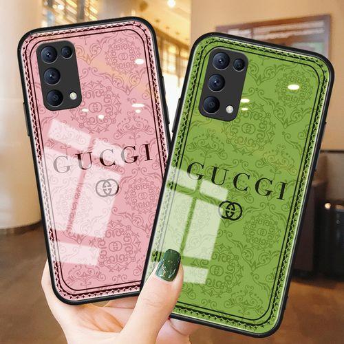 高级感欧美简约潮牌oppo手机壳reno5玻璃镜面5pro+硅胶reno3 4超薄4
