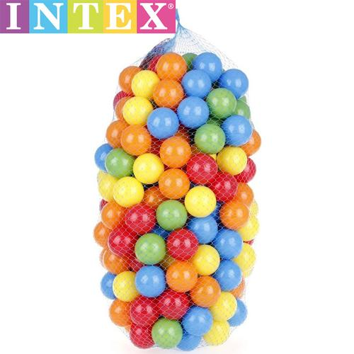 intex波波球彩球海洋球婴儿宝宝儿童玩具球海洋球池彩色球100只装