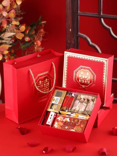 结婚喜糖礼盒装成品含糖果中国风婚礼伴手礼高档套装