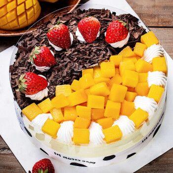 生日蛋糕当日送达新鲜水果巧克力双层祝寿订做网红蛋糕千层慕斯预定