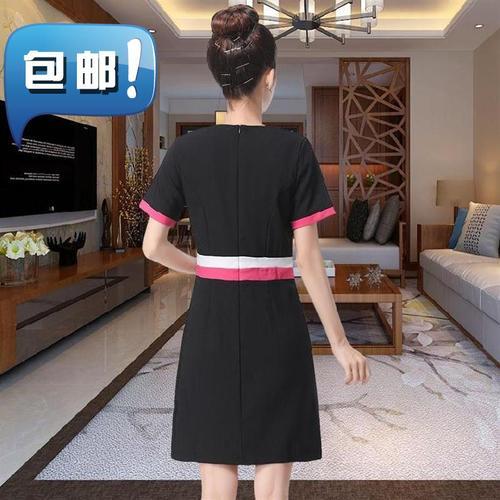 短袖技师服新款裙子经理1舒适休闲美容院工作服女套装