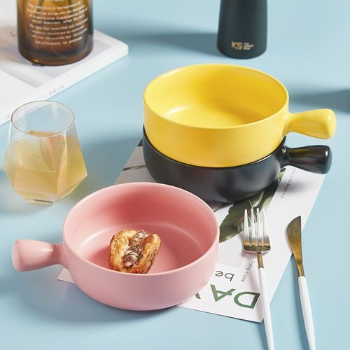 烤碗烤盘烤箱用烘焙单柄碗焗饭可爱少女心家用餐具泡面碗单个碗