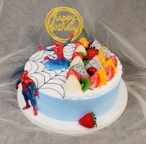 新款蛋糕模型仿真生日蛋糕模型蛋糕样品蜘蛛侠蛋糕