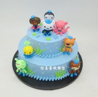 广州馨馨新款卡通仿真模型流行小孩卡通生日蛋糕模型