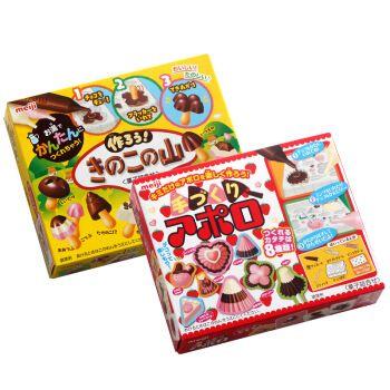 明治太空船diy巧克力魔蘑菇山食玩自制儿童手工糖果 草莓太空船*2