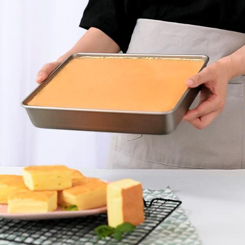 古早蛋糕模具加高烤盘烤箱家用不粘长方形牛轧糖雪花酥面包烘焙盘