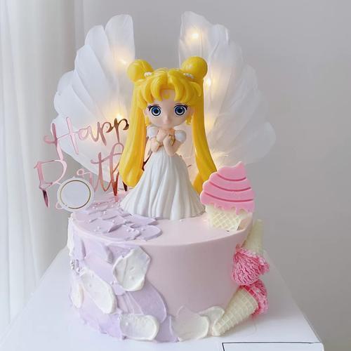 生日蛋糕装饰摆件美少女战士月野兔卡通人物模型可爱