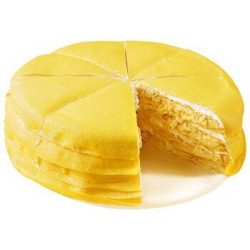 鲜佰客 网红金枕榴莲千层 蛋糕6寸 下午茶 甜品 榴莲千层净重400g/个