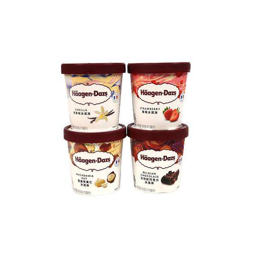 冰淇淋杯装香草/草莓/巧克力冰淇淋进口雪糕 3杯大杯
