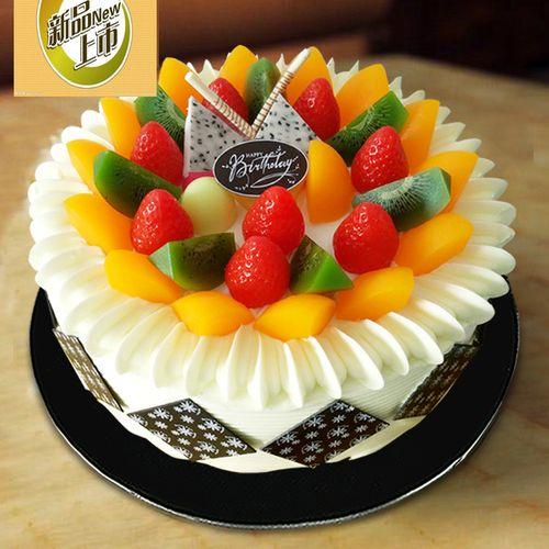 广州馨馨新款仿真蛋糕模型 塑胶样品创意水果蛋糕模具