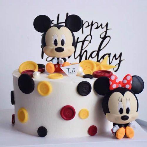 烘焙蛋糕装饰摆件 大头q版米老鼠米奇米妮生日甜品台