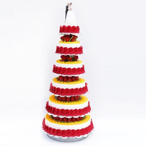 多层支架婚礼祝寿水果蛋糕模型2020新款橱窗摆设样品.