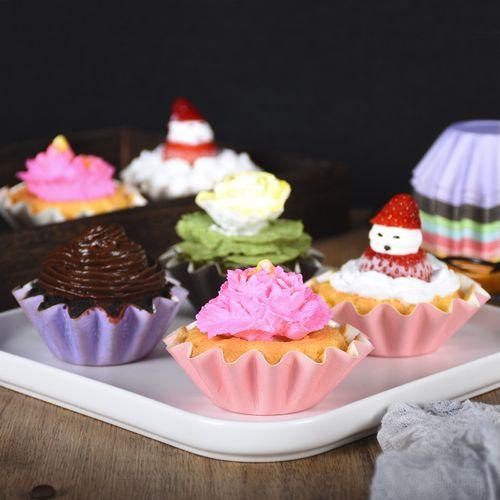 烘焙包装花形甜品纸托加厚蛋糕防油纸杯耐高温菊花盏