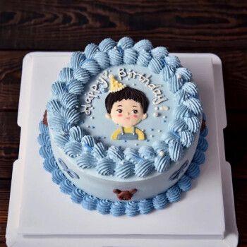 乐食锦新鲜水果手绘蛋糕全国预定同城配送爸妈爱人儿童网红生日蛋糕