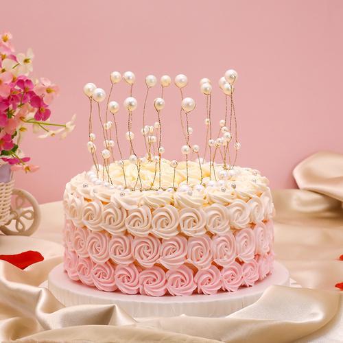 粉红佳人-动物稀奶油蛋糕