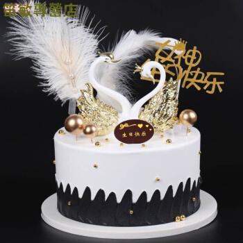 纤雅洁  仿真蛋糕模型定制2021新款网红蛋糕模型羽毛花仙子生日蛋糕