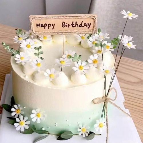 小雏菊蛋糕装饰网红亚克力花朵翻糖模具小清新生日甜品台插牌装饰