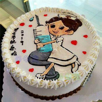 网红创意护士节白衣天使生日蛋糕同城全国上海广州深圳杭州重庆