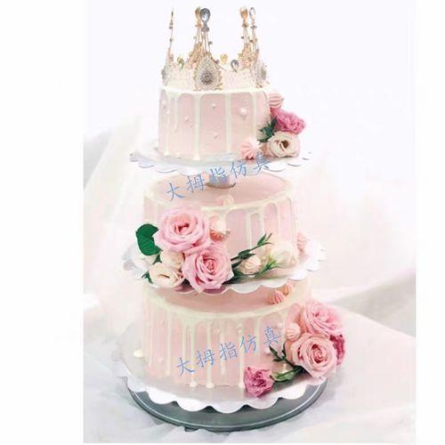 网红新款多层鲜花架子蛋糕 婚庆摄影拍摄道具  三层鲜花生日模型