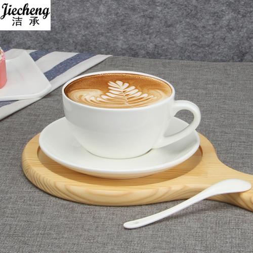 意式浓缩咖啡杯陶瓷套装创意拿铁杯咖啡拉花杯压纹大