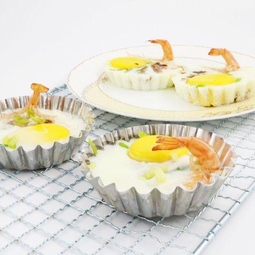 大号不锈钢菊花花边蛋挞模蛋挞底托布丁模椰子小蛋糕