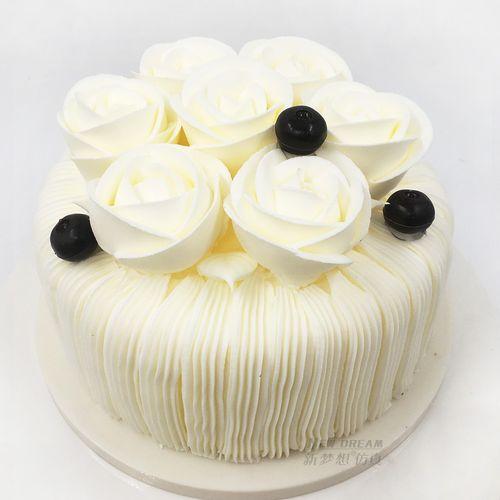奶油裱花蛋糕模型仿真2020新款 塑胶生日假蛋糕样品t
