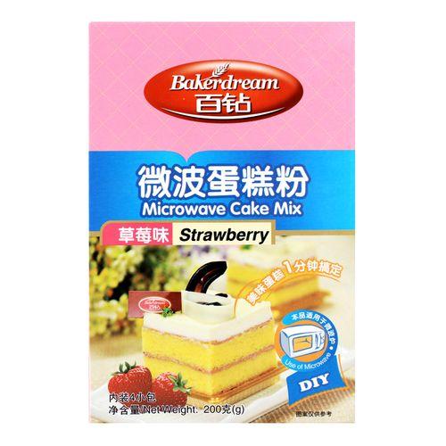 百钻微波蛋糕粉200g diy低筋粉微波炉做蛋糕预拌粉面粉套餐 烘焙原料