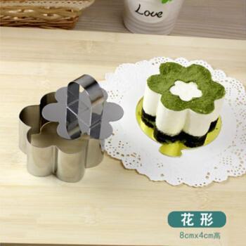 不锈钢慕斯模具心形方形慕斯圈圆形花形提拉米苏芝士蛋糕烘焙模具 花