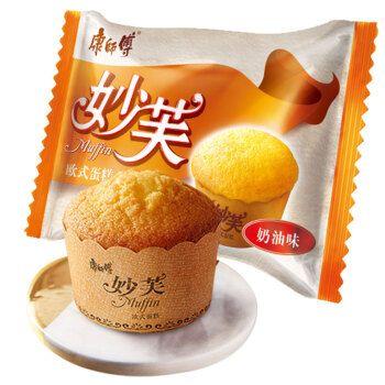康师傅妙芙蛋糕欧式20枚整箱散装奶油巧克力味糕点休闲早餐零食品