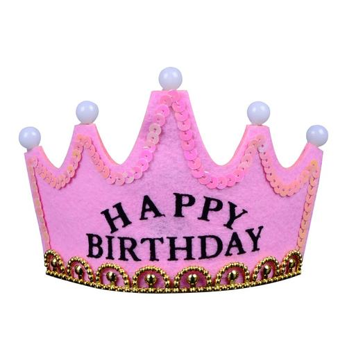 生日装饰 儿童发光生日帽子 蛋糕帽 派对帽子 早可爱