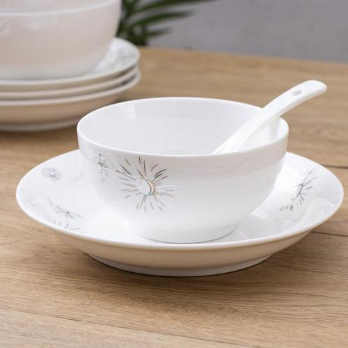 欧式陶瓷碗碟餐具套装家用中式简约碗筷菜盘骨瓷餐具