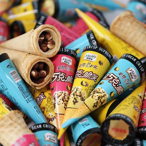锦禧缘巧克力脆芙蛋筒脆皮滨淇淋蛋卷甜品小朋友儿童