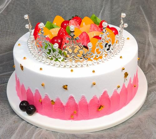 新款皇冠蛋糕模型生日蛋糕样品水果蛋糕 蛋糕样品 仿真假蛋糕仿真