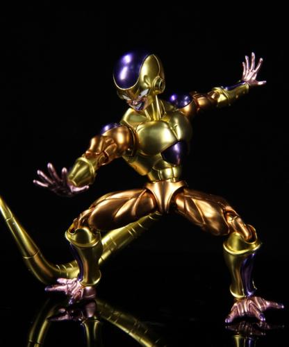 万代金属上色拼装模型七龙珠z复活的f黄金弗利萨2
