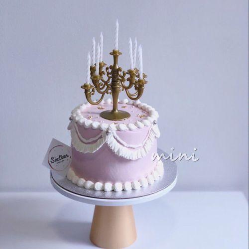 ins创意蛋糕装饰 抖音同款欧式立体塑料烛台网红甜品