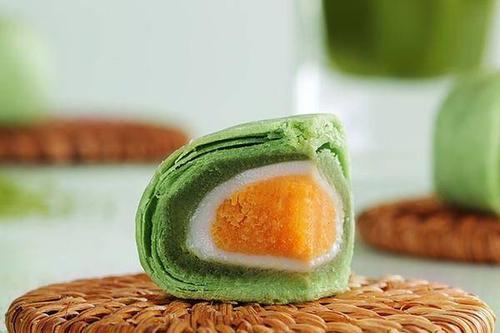0/袋  特价16枚【日式抹茶】雪媚娘蛋黄酥手工馅饼糕点小吃零食55