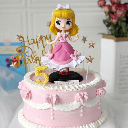 奥罗拉白雪公主女孩婚礼宝宝生日蛋糕烘焙甜品台装饰