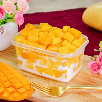 榴芒一刻 迷你芒果千层 盒子蛋糕 甜品 下午茶 270g/盒 2盒装 单盒