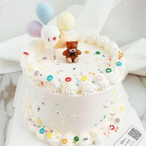 蛋糕装饰蜡烛ins风可爱蝴蝶结小熊蜡烛儿童卡通生日