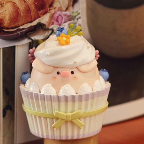 airtoys 歪瓜 屁可猪甜品系列 纸杯蛋糕款盲盒 全新未