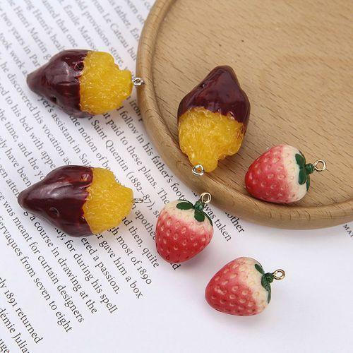 diy手工饰品配件趣味仿真立体草莓诱人地瓜钥匙扣包包