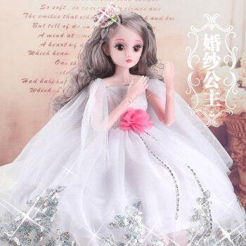 桔梗缘 小女孩生日礼物芭比娃娃套装送女儿4-7岁女童创意儿童女生