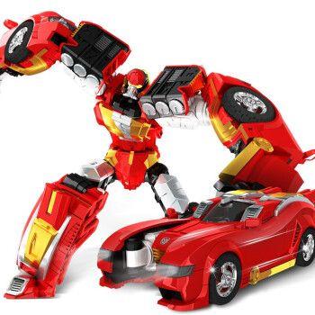 汽车儿童变形机器人玩具小男孩小女孩金刚变形精英 精英版 耍宝金刚