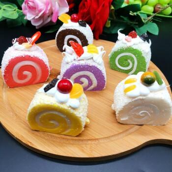 仿真蛋糕食物假甜品瑞士卷假蛋糕pu回弹面包模型饰品