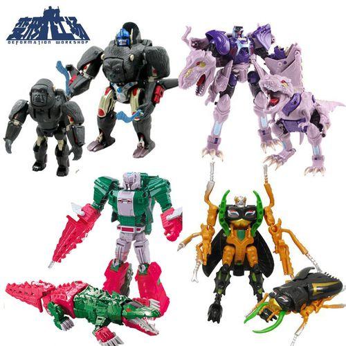 变形工场包邮经典超能勇士猛兽侠变形玩具金刚加强级