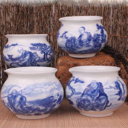 正品景德镇陶瓷 伏虎降龙达摩罗汉尊者公道杯茶海 普洱杯 双12
