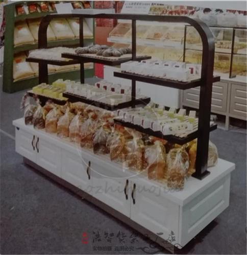 铁艺烤漆面包柜敞开式展架边柜中岛柜错层式蛋糕模型展示柜欧式烤