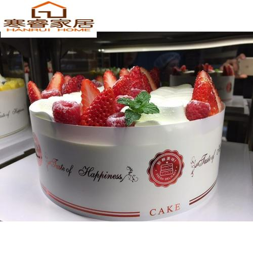 彩色慕斯生日蛋糕围边透明装饰塑料烘焙卡通硬围边8cm