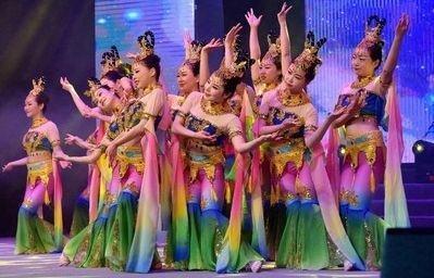高#档敦煌飞天舞蹈服装千手观音表演服古典民族舞蹈