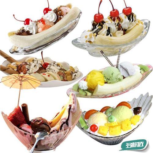 仿真香蕉船冰激凌模型圣代淇淋茶餐厅样板房